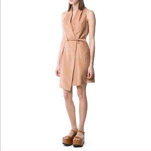Mango Premium Linen Blend Wrap Dress